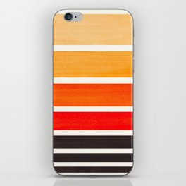 Orange Minimalist Mid Century Modern Color Fields Ombre Watercolor Staggered Squares iPhone Skin
