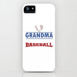Pitcher Hitter Grandparent Proud Grandma Of The Best Baseball Player Gift iPhone Case