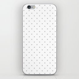 Small Light Grey Polka dots Background iPhone Skin