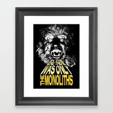The Monoliths Print Framed Art Print