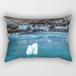 The Ice Grotto Rectangular Pillow