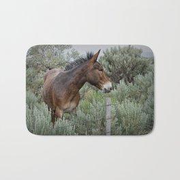 Mule in Wyoming Bath Mat