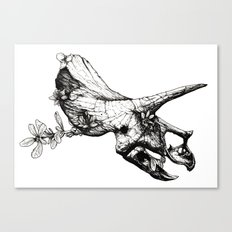 Jurassic Bloom - The Horned. Canvas Print