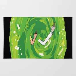 schwifty space Rug