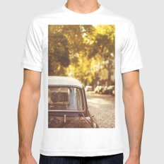 Autumn streets White Mens Fitted Tee MEDIUM
