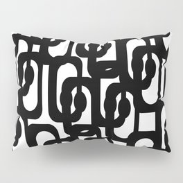 Black and White Mid-century Modern Loop Pattern Pillow Sham
