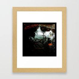 november puddle Framed Art Print