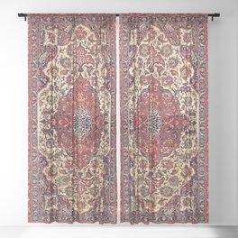 Esfahan Central Persian Rug Print Sheer Curtain