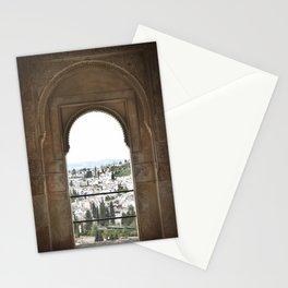 Alhambra Window to Granada Stationery Cards