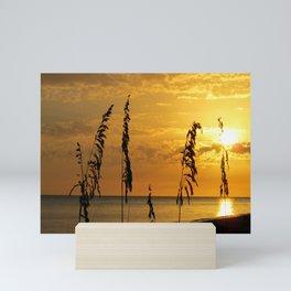 Golden Sea Oats Mini Art Print