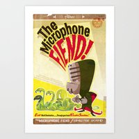 The Microphone Fiend Art Print