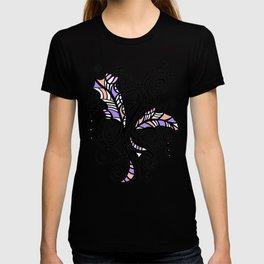 Freestyle Doodle Marker Design - Purple Peach T-shirt