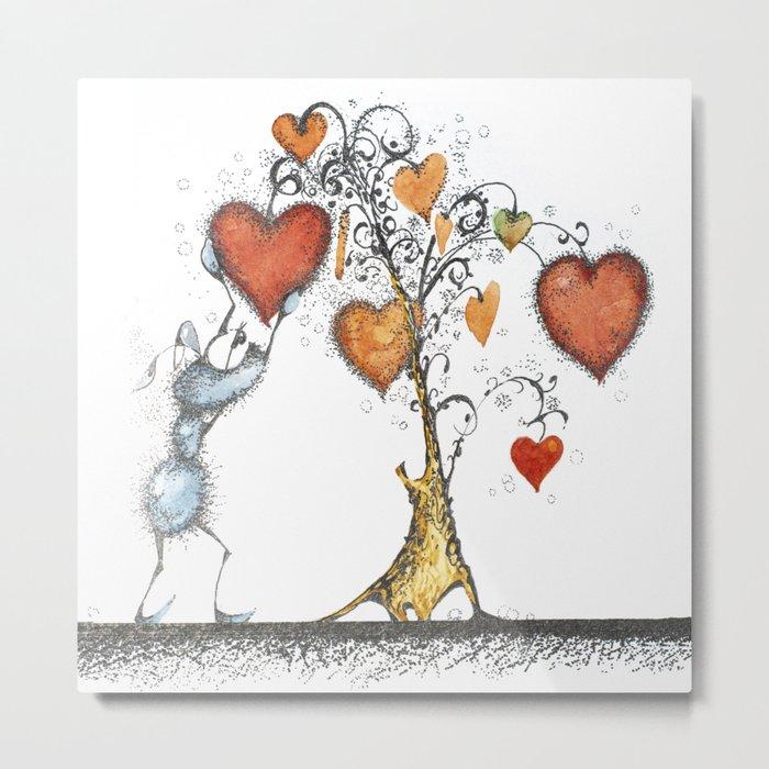 Tree of hearts Metal Print