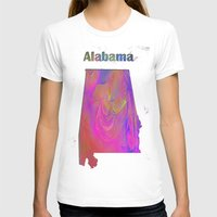 alabama T-shirts featuring Alabama Map by Roger Wedegis