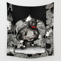 ace Wall Tapestries featuring Ace by Anca Chelaru