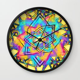 parallelogram art Wall Clock