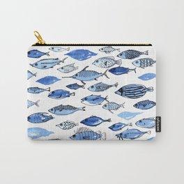 Aquarium blue fishes Carry-All Pouch