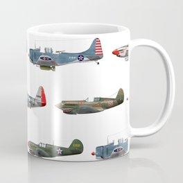 Pattern of World War 2 Fighter Planes Coffee Mug
