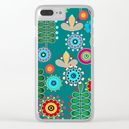Waltz of the flowers . Retro 3 Clear iPhone Case