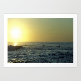 Waiting for a Wave Art Print