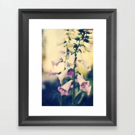 bell flowers Framed Art Print