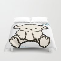 teddy bear Duvet Covers featuring Teddy by RaJess