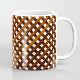 Symmetrical wooden pattern Coffee Mug