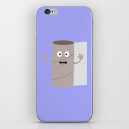 Empty Toilet paper roll with face iPhone Skin