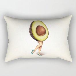 Avocado Girl Rectangular Pillow