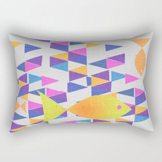 The Yellow Fish Rectangular Pillow