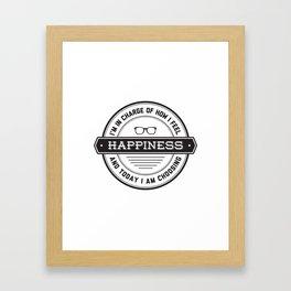 I'm choosing happiness Framed Art Print