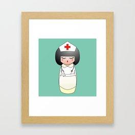 Kokeshi Nurse Framed Art Print