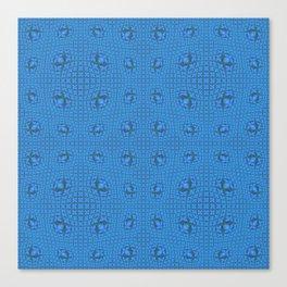 Modern Tribal Blue Geometric Pop Canvas Print