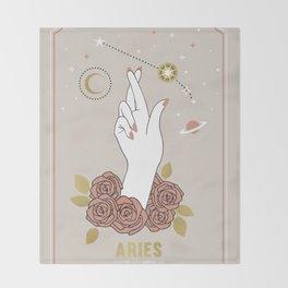 Aries Zodiac Series Throw Blanket