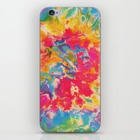 tie dye iPhone & iPod Skins featuring Tie Dye by The Dope Scope