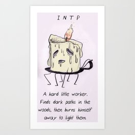 MBTI GHOSTS AND GHOULS - INTP  Art Print
