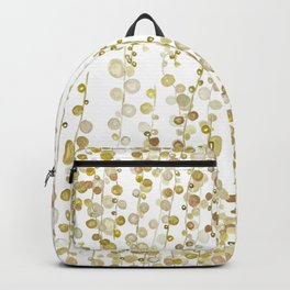 golden string of pearls watercolor Backpack