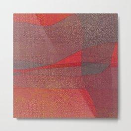 """Pastel Abstract Symmetrical Landscape"" Metal Print"