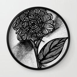 Flower Doodle Wall Clock