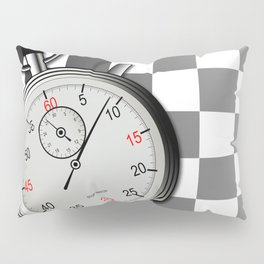 Chequered Flag and Stop Watch Pillow Sham