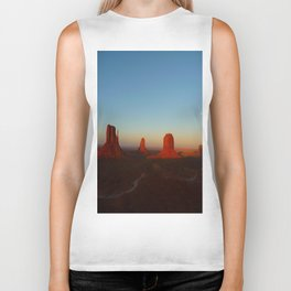 Monument Valley and moon Biker Tank