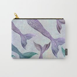 Amethyst and Teal Mermaid Tails Carry-All Pouch