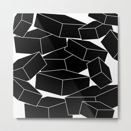 Tipping Point - Minimal Line Drawing Metal Print