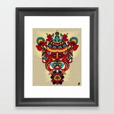 Elephant Flowers Framed Art Print