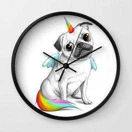 Pug unicorn Wall Clock