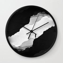 White Isolation Wall Clock