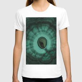 Malachite detailed pattern T-shirt