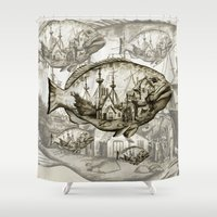 fish Shower Curtains featuring fish by Кaterina Кalinich