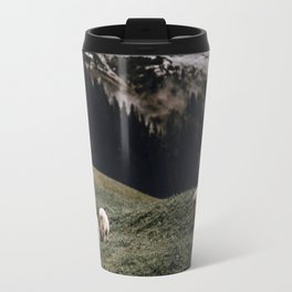 Sheep III / Bavarian Alps Travel Mug