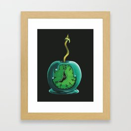 Haunted Mansion 13th Hour Clock Apple Framed Art Print